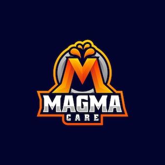 Ilustração do logotipo do vetor letra m gradiente estilo colorido