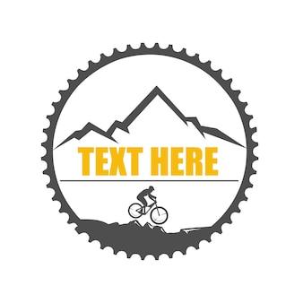 Ilustração do logotipo em declive