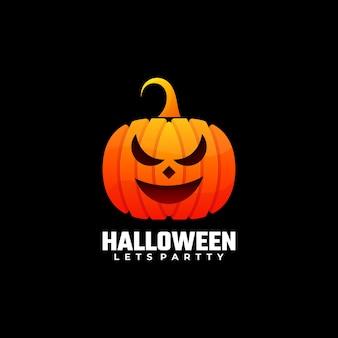 Ilustração do logotipo estilo colorido do gradiente de halloween.