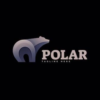 Ilustração do logotipo estilo polar gradiente colorido.