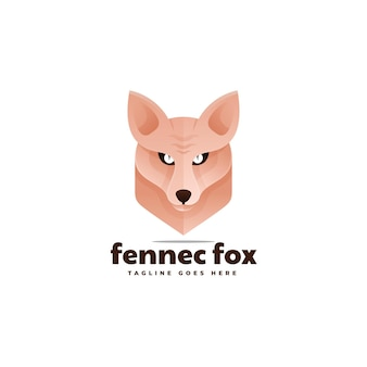 Ilustração do logotipo fennec fox gradient colorful style