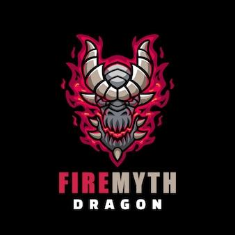 Ilustração do logotipo fire myth e sport e sport style.