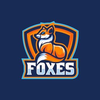 Ilustração do logotipo fox e esporte e estilo esportivo