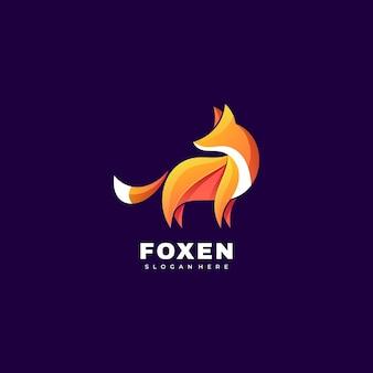 Ilustração do logotipo fox gradient colorful style.