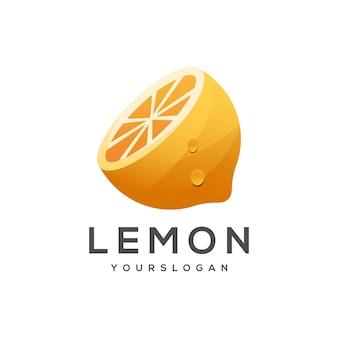 Ilustração do logotipo gradiente de limão