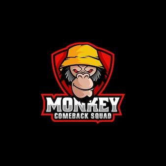 Ilustração do logotipo monkey e esporte e estilo esportivo