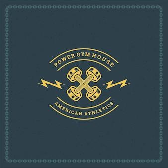 Ilustração do logotipo ou emblema de fitness