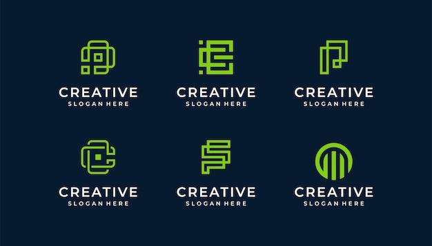 Ilustração do logotipo s monoline