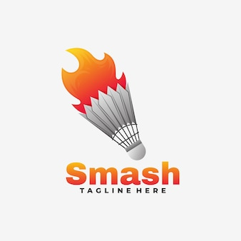 Ilustração do logotipo smash gradient colorful style