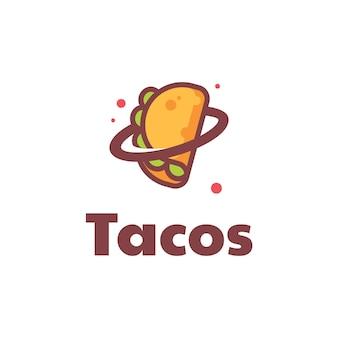 Ilustração do logotipo tacos simple mascot style.
