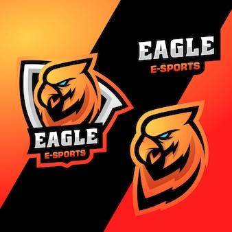 Ilustração do logotipo vetorial eagle e esporte e estilo esportivo
