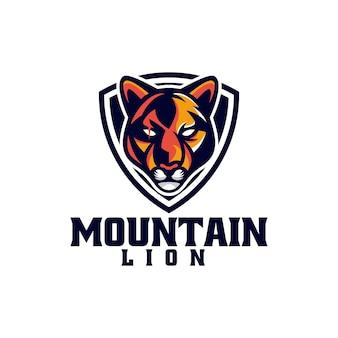 Ilustração do logotipo vetorial mountain lion e esporte e estilo esportivo
