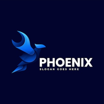 Ilustração do logotipo vetorial phoenix gradient colorful style