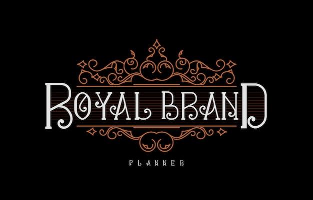 Ilustração do logotipo vintage luxo