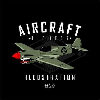Ilustração do lutador de aeronaves