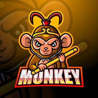Ilustração do macaco mascote esport
