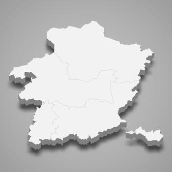Ilustração do mapa 3d da província de limburg da bélgica