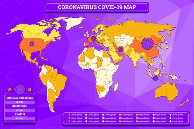 Ilustração do mapa de coronavírus
