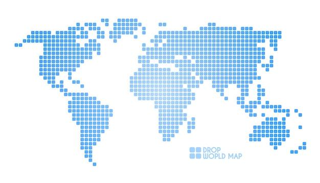 Ilustração do mapa mundial de pontos de conceito