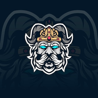 Ilustração do mascote da espada viking