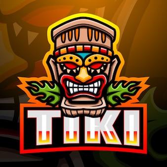 Ilustração do mascote da máscara tiki