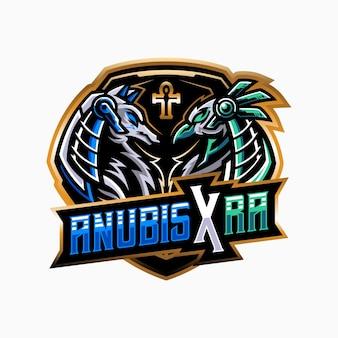 Ilustração do mascote de anubis ra