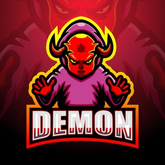 Ilustração do mascote demoníaco