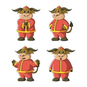 Ilustração do mascote do búfalo