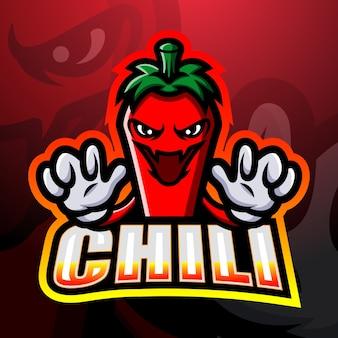 Ilustração do mascote do chili