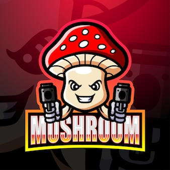Ilustração do mascote do cogumelo