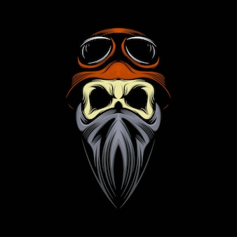 Ilustração do mascote do crânio do cavaleiro