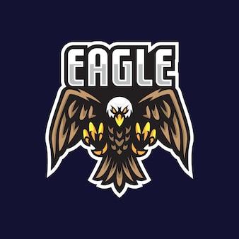 Ilustração do mascote do e-sport eagle