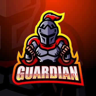 Ilustração do mascote do guardian