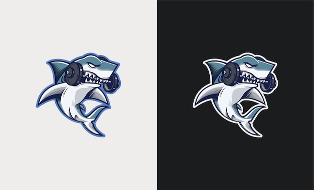 Ilustração do mascote do gym shark