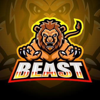 Ilustração do mascote do leão