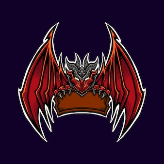 Ilustração do mascote do logotipo do red dragon
