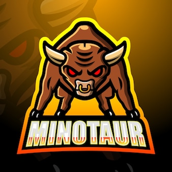 Ilustração do mascote do minotauro