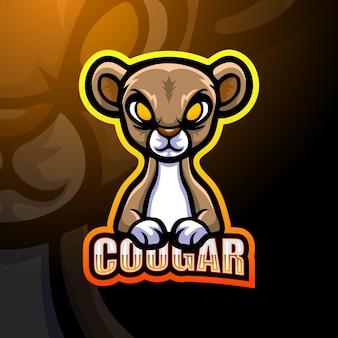 Ilustração do mascote do puma Vetor Premium