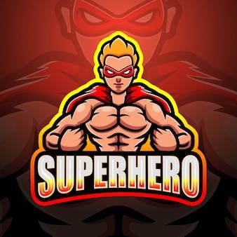 Ilustração do mascote do super-herói