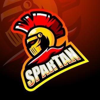 Ilustração do mascote guerreiro espartano
