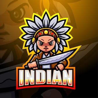 Ilustração do mascote indiano