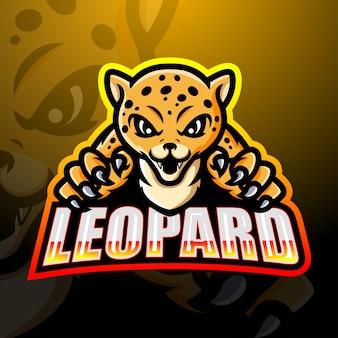 Ilustração do mascote leopard esport
