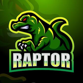 Ilustração do mascote raptor
