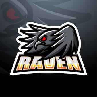 Ilustração do mascote raven esport