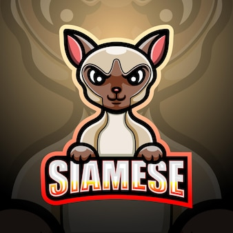 Ilustração do mascote siamês