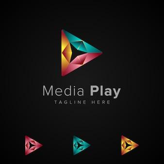 Ilustração do media play