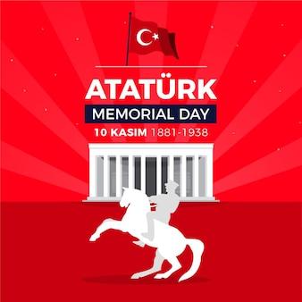 Ilustração do memorial day ataturk
