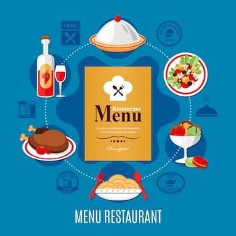 Ilustração do menu de restaurante