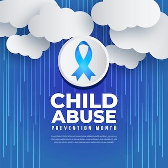 Ilustração do mês nacional de prevenção do abuso infantil gradiente