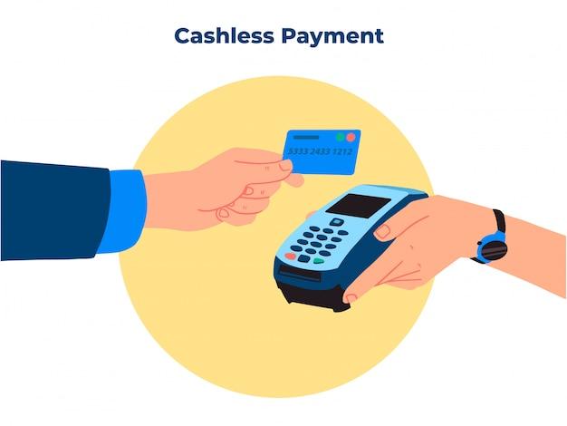 Ilustração do método de pagamento sem dinheiro